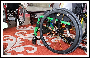 wheelchairs in my living room